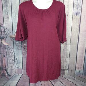 Lane bryant maroon sweater dress size 14/16 I46